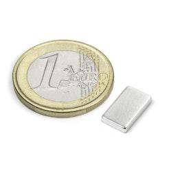 Q-12-07-02-HN Block magnet 12 x 7 x 2 mm, neodymium, 44H, nickel-plated
