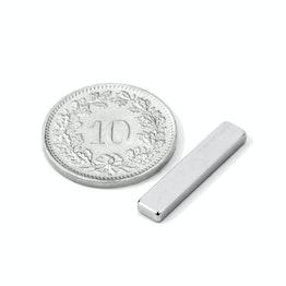 Q-20-04-02-N Block magnet 20 x 4 x 2 mm, neodymium, N45, nickel-plated
