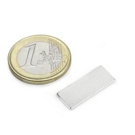 Q-22-8.5-1.4-SHN Bloque magnético 22 x 8,5 x 1,4 mm, neodimio, 35SH, niquelado