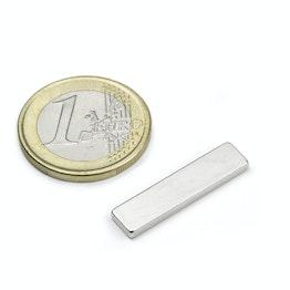 Q-25-06-02-SN Bloque magnético 25 x 6 x 2 mm, sujeta aprox. 1,7 kg, neodimio, 45SH, niquelado