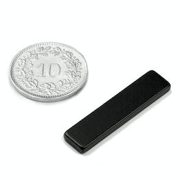 Q-30-07-2.5-HE Blokmagneet 30 x 7 x 2.5 mm, neodymium, 38H, epoxy coating