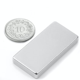 Q-40-20-05-N Parallelepipedo magnetico 40 x 20 x 5 mm, neodimio, N42, nichelato