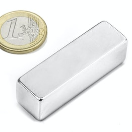 Q-50-15-15-N Block magnet 50 x 15 x 15 mm, neodymium, N48, nickel-plated