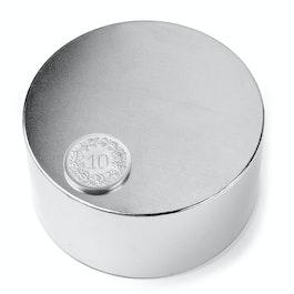 S-70-35-N Disc magnet Ø 70 mm, height 35 mm, neodymium, N45, nickel-plated