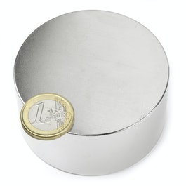 S-70-35-N Disc magnet Ø 70 mm, height 35 mm, neodymium, N45, nickel-plated