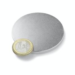 S-60-05-N Disque magnétique Ø 60 mm, hauteur 5 mm, néodyme, N42, nickelé