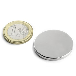 S-30-03-N Disc magnet Ø 30 mm, height 3 mm, holds approx. 6,7 kg, neodymium, N45, nickel-plated