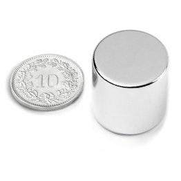 S-20-20-N Disc magnet Ø 20 mm, height 20 mm, neodymium, N42, nickel-plated