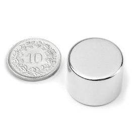 S-20-15-N Disc magnet Ø 20 mm, height 15 mm, neodymium, N42, nickel-plated