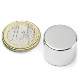 S-20-15-N Disque magnétique Ø 20 mm, hauteur 15 mm, néodyme, N42, nickelé