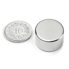 S-20-12-N Disc magnet Ø 20 mm, height 12 mm, neodymium, N42, nickel-plated