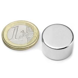 S-20-12-N Disco magnético Ø 20 mm, alto 12 mm, neodimio, N42, niquelado