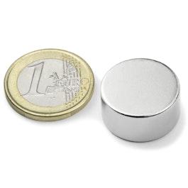 S-20-10-N Disco magnetico Ø 20 mm, altezza 10 mm, neodimio, N42, nichelato