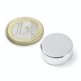S-20-08-N Disco magnetico Ø 20 mm, altezza 8 mm, neodimio, N42, nichelato