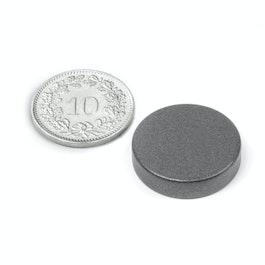 S-20-05-T Disc magnet Ø 20 mm, height 5 mm, neodymium, N42, teflon-coated