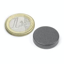 S-20-05-T Disque magnétique Ø 20 mm, hauteur 5 mm, néodyme, N42, revêtu de téflon