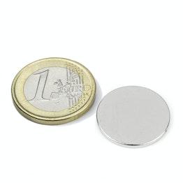 S-20-1.5-N Disco magnético Ø 20 mm, alto 1,5 mm, neodimio, N38, niquelado
