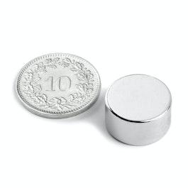 S-15-08-N Disco magnetico Ø 15 mm, altezza 8 mm, neodimio, N42, nichelato