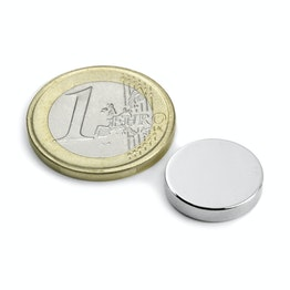 S-15-03-N Disco magnético Ø 15 mm, alto 3 mm, sujeta aprox. 3,2 kg, neodimio, N45, niquelado