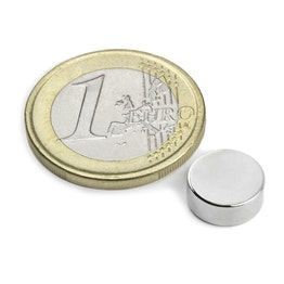S-10-04-N Disc magnet Ø 10 mm, height 4 mm, neodymium, N42, nickel-plated