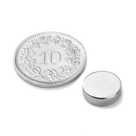 S-10-03-N Disc magnet Ø 10 mm, height 3 mm, neodymium, N42, nickel-plated