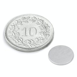 S-10-0.6-N Disc magnet Ø 10 mm, height 0.6 mm, neodymium, N35, nickel-plated