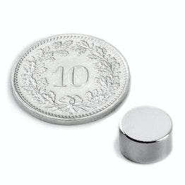 S-09-05-N Disc magnet Ø 9 mm, height 5 mm, neodymium, N50, nickel-plated