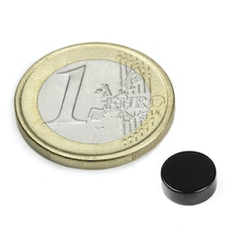 S-08-03-E Schijfmagneet Ø 8 mm, hoogte 3 mm, neodymium, N45, epoxy coating