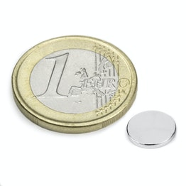 S-08-01-N Disc magnet Ø 8 mm, height 1 mm, neodymium, N45, nickel-plated