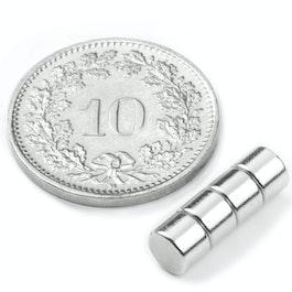 S-05-03-N Disque magnétique Ø 5 mm, hauteur 3 mm, néodyme, N42, nickelé