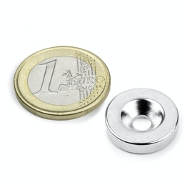 CS-S-18-04-N Disc magnet Ø 18 mm, height 4 mm, with countersunk borehole, N35, nickel-plated