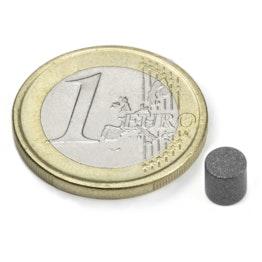 S-05-05-T Disc magnet Ø 5 mm, height 5 mm, neodymium, N45, teflon-coated