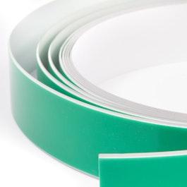 Bande métallique autocollante blanche support autocollant pour aimants, rouleaux d'1 m / 5 m / 25 m