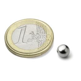 K-06-C Esfera magnética Ø 6 mm, neodimio, N38, cromado