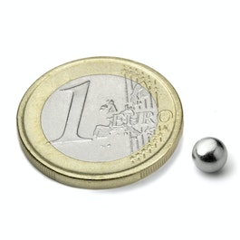 K-05-N Sphere magnet Ø 5 mm, neodymium, N35, nickel-plated