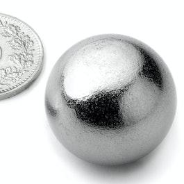 K-26-C Kogelmagneet Ø 26 mm, neodymium, N38, verchroomd