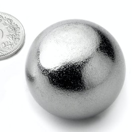K-30-C Sphere magnet Ø 30 mm, neodymium, N40, chrome-plated
