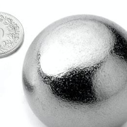 K-40-C Kugelmagnet Ø 40 mm, Neodym, N40, verchromt