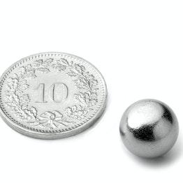 K-10-C Kogelmagneet Ø 10 mm, houdt ca. 1.4 kg, neodymium, N40, verchroomd