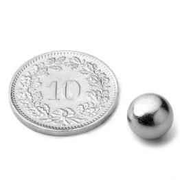 K-08-C Bille magnétique Ø 8 mm, tient env. 850 g, néodyme, N38, chromé