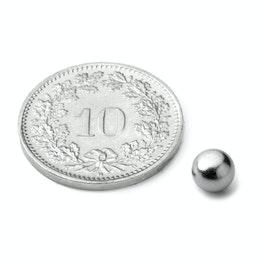 K-05-C Esfera magnética Ø 5 mm, neodimio, N42, cromado