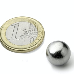 K-13-C Sphere magnet Ø 12,7 mm, neodymium, N42, chrome-plated