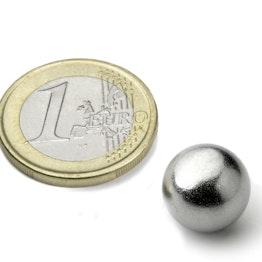 K-13-C Kugelmagnet Ø 12,7 mm, hält ca. 2,4 kg, Neodym, N42, verchromt