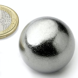 K-30-C Sphere magnet Ø 30 mm, neodymium, N40, chrome-plated