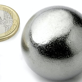 K-40-C Sphere magnet Ø 40 mm, neodymium, N40, chrome-plated