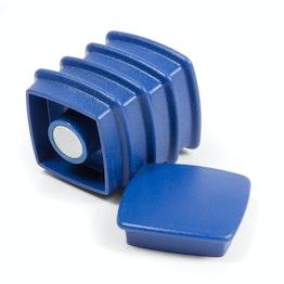 "Büromagnete ""Boston Xtra"" viereckig 25 Stück Pinnwand-Magnete Neodym, 25er-Set, blau"