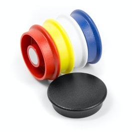 Boston Xtra round set of 5 office magnets neodymium, round, assorted