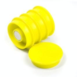 Boston Xtra rond set met 5 kantoormagneten neodymium, rond, geel