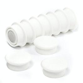 Boston Xtra mini rotondi set con 10 magneti per l'ufficio al neodimio, bianco