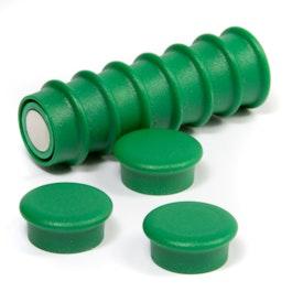 Boston Xtra mini rotondi set con 10 magneti per l'ufficio al neodimio, verde